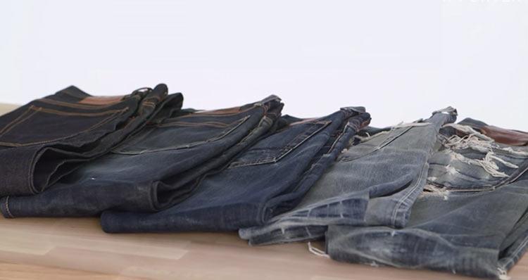 différents types de jeans