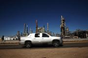 Une raffinerie de pétrole à Big Spring (Texas), en janvier 2016.
